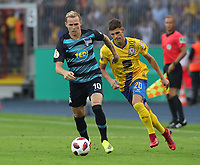 Ondrej Duda,   Ivan Franjic  <br /> / Sport / Football / DFB Pokal 1.round 3. Bundesliga Bundesliga /  2018/2019 / 20.08.2018 / BTSV Eintracht Braunschweig vs. Hertha BSC Berlin / DFL regulations prohibit any use of photographs as image sequences and/or quasi-video. /<br />       <br />    <br />  *** Local Caption *** &copy; pixathlon<br /> Contact: +49-40-22 63 02 60 , info@pixathlon.de