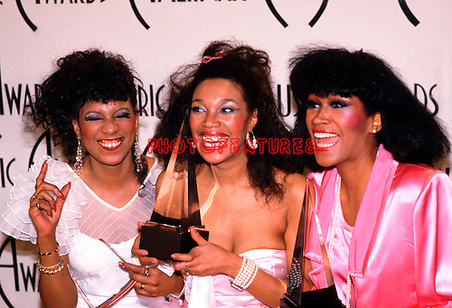 Pointer Sisters 1985 June Pointer, Anita Pointer and Ruth Pointer at American Music Awards....