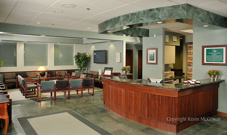 Medical practice reception lobby