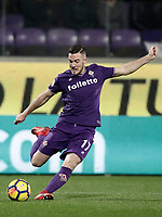 Calcio, Serie A: Fiorentina - Inter, stadio Artemio Franchi Firenze 5 gennaio 2018.<br /> Fiorentina's Jordan Veretout in action during the Italian Serie A football match between Fiorentina and Inter Milan at Florence's Artemio Franchi stadium, January 5 2018.<br /> UPDATE IMAGES PRESS/Isabella Bonotto