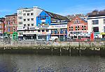 Colourful buildings on Patricks Quay, River Lee, City of Cork, County Cork, Ireland, Irish Republic