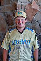 Ljay Newsome (32) of the Everett AquaSox and the Northwest League All-Stars poses for a photo during activities before the 2nd Annual Northwest League-Pioneer League All-Star Game at Snowbasin Resort on August 1, 2016 in Ogden, Utah. (Stephen Smith/Four Seam Images)
