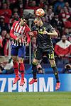 Atletico de Madrid's Rodrigo Hernandez and Juventus' Leonardo Bonucci during a UEFA Champions League match. Round of 16.  February, 20,2019. (ALTERPHOTOS/Alconada)