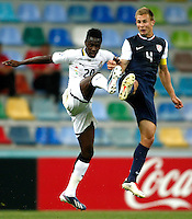 Ghana's Yiadom Boakye (L) and USA's Caleb Stanko (R) during their FIFA U-20 World Cup Turkey 2013 Group Stage Group A soccer match Ghana betwen USA at the Kadir Has stadium in Kayseri on June 27, 2013. Photo by Aykut AKICI/isiphotos.com
