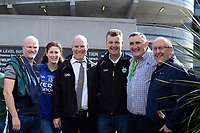17-1-2017: Michael Fitzpatrick, Carol Fitzpatrick, John Fitzpatrick, John Murrell, Tom Browne and Padraig Lynch at  the All-Ireland Football final at Croke Park on Sunday.<br /> Photo: Don MacMonagle