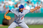 11 March 2006: Kelly Wunsch, pitcher for the Los Angeles Dodgers, winds up his sidearm delivery during a Spring Training game against the Washington Nationals. The Nationals defeated the Dodgers 2-1 in 10 innings at Space Coast Stadium, in Viera, Florida...Mandatory Photo Credit: Ed Wolfstein.