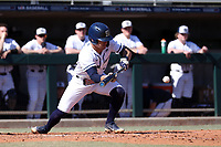 CARY, NC - FEBRUARY 23: Gavin Homer #2 of Penn State University bunts the ball during a game between Wagner and Penn State at Coleman Field at USA Baseball National Training Complex on February 23, 2020 in Cary, North Carolina.