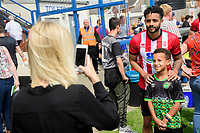 Lincoln City's Bruno Andrade poses for a photograph with fans<br /> <br /> Photographer Chris Vaughan/CameraSport<br /> <br /> Football Pre-Season Friendly (Community Festival of Lincolnshire) - Lincoln City v Lincoln United - Saturday 6th July 2019 - The Martin & Co Arena - Gainsborough<br /> <br /> World Copyright © 2018 CameraSport. All rights reserved. 43 Linden Ave. Countesthorpe. Leicester. England. LE8 5PG - Tel: +44 (0) 116 277 4147 - admin@camerasport.com - www.camerasport.com