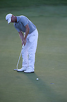 Michael Hoey (NIR) putts for birdie on the last during Round Two of The Tshwane Open 2014 at the Els (Copperleaf) Golf Club, City of Tshwane, Pretoria, South Africa. Picture:  David Lloyd / www.golffile.ie