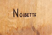 Oak barrel marked noisette toasting level chateau lestrille bordeaux france