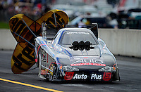 Oct. 6, 2012; Mohnton, PA, USA: NHRA funny car driver Blake Alexander during qualifying for the Auto Plus Nationals at Maple Grove Raceway. Mandatory Credit: Mark J. Rebilas-