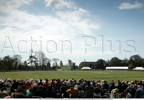 General view of ARUNDEL cricket ground, Arundel Tour Match v India, Arundel, Sussex, 960505. Photo: Glyn Kirk/Action Plus....1996.GV.cricket.spectators.grounds.venue venues