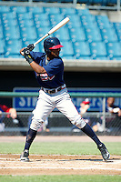 Jacob Heyward #22 of Eagles Landing Christian Academy in McDonough, Georgia playing for the Atlanta Braves scout team during the East Coast Pro Showcase at Alliance Bank Stadium on August 1, 2012 in Syracuse, New York.  (Mike Janes/Four Seam Images)