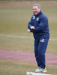 Ally McCoist at training with a flash of his his Gangnam Style dance