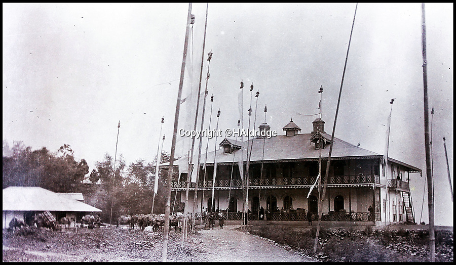 BNPS.co.uk (01202 558833)Pic: HAldridge/BNPS<br /> <br /> The Dalai Lamas residence in Kalimpong whilst he was in exile.<br /> <br /> Game tales from the hills...remarkable album shows British attempts to win over newly invaded Tibet by playing sport's straight from the playing fields of England.<br /> <br /> A collection of photos have come to light which show the people of the remote Himalayan nation of Tibet embracing one of the traditional British pastimes - a sports day.