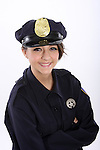 A young police woman