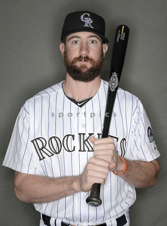 Colorado Rockies Charlie Blackmon (19) at media photo day during spring training on February 26, 2014 in Phoenix, AZ