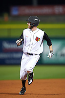 Louisville Cardinals right fielder Colin Lyman (35) running the bases during a game against the Maryland Terrapins on February 18, 2017 at Spectrum Field in Clearwater, Florida.  Louisville defeated Maryland 10-7.  (Mike Janes/Four Seam Images)