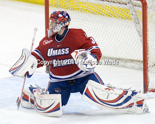 Carter Hutton (Lowell - 30) - The Boston College Eagles defeated the University of Massachusetts-Lowell River Hawks 2-1 on Saturday, February 13, 2010, at Conte Forum in Chestnut Hill, Massachusetts.