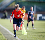 Kylie McMullan running the line at Firhill