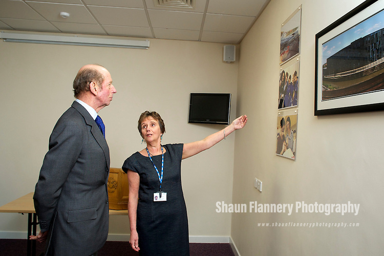 Pix: Shaun Flannery/shaunflanneryphotography.com...COPYRIGHT PICTURE>>SHAUN FLANNERY>01302-570814>>07778315553>>..24th February 2010............HRH The Duke of Kent officially opens the Rotherham Community Health Centre..Pat Wade, Chair of Rotherham Community Health Services Committee and member of the NHS Rotherham Trust Board.