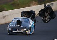 Jul. 18, 2014; Morrison, CO, USA; NHRA pro stock driver Jonathan Gray during qualifying for the Mile High Nationals at Bandimere Speedway. Mandatory Credit: Mark J. Rebilas-