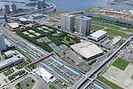 Ariake Tennis Park: Tokyo, Japan: Aerial view of proposed venue for the 2020 Summer Olympic Games. (Photo by AFLO)