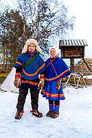 Nils Torbjörn Nutti who owns and runs Nutti Sámi Siida, and Annele Gaup, a Sámi guide for Nutti Sámi Siida.