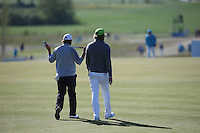 This says it all, a total slog in the wind; Marcus Larsson (SWE) and Johan Carlsson (SWE) head down the 7th during Round Two of the 2015 Nordea Masters at the PGA Sweden National, Bara, Malmo, Sweden. 05/06/2015. Picture David Lloyd | www.golffile.ie