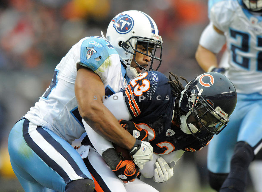 CHRIS HOPE, of the Tennessee Titans in action against the Chicago Bears, during the Titans game  in Chicago, IL  on Novmeber 7, 2008..Titans win 21-14