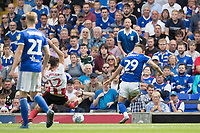 Luke Garbutt of Ipswich Town fires the opening goal for the hosts during Ipswich Town vs Sunderland AFC, Sky Bet EFL League 1 Football at Portman Road on 10th August 2019