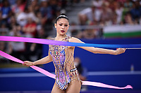September 14, 2018 - Sofia, Bulgaria - MELINA BALDASSARRI of Italy performs ribbon at 2018 World Championships.