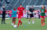 CARSON, CA - FEBRUARY 07: Christine Sinclair #12 of Canada moves with the ball during a game between Canada and Costa Rica at Dignity Health Sports Park on February 07, 2020 in Carson, California.