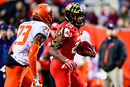 College Park, MD - OCT 27, 2018: Maryland Terrapins running back Javon Leake (20) breaks free for his 3rd touchdown of the game against Illinois at Capital One Field at Maryland Stadium in College Park, MD. The Terrapins defeated Illinois to move to 5-3 on the season. (Photo by Phil Peters/Media Images International)
