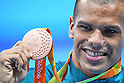 Andre Brasil (BRA), <br /> SEPTEMBER 12, 2016 - Swimming : <br /> Men's 100m Butterfly S10 Medal Ceremony <br /> at Olympic Aquatics Stadium<br /> during the Rio 2016 Paralympic Games in Rio de Janeiro, Brazil.<br /> (Photo by AFLO SPORT)