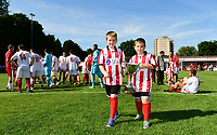 The City United Trophy is carried out on to the pitch at the end of the game<br /> <br /> Photographer Chris Vaughan/CameraSport<br /> <br /> Football - Pre-Season Friendly - Lincoln United v Lincoln City - Saturday 8th July 2017 - Sun Hat Villas Stadium - Lincoln<br /> <br /> World Copyright &copy; 2017 CameraSport. All rights reserved. 43 Linden Ave. Countesthorpe. Leicester. England. LE8 5PG - Tel: +44 (0) 116 277 4147 - admin@camerasport.com - www.camerasport.com