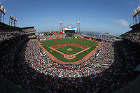 SAN FRANCISCO, CA - JUNE 13:  General overall interior scenic view during the game between the Arizona Diamondbacks and San Francisco Giants at AT&T Park on Saturday, June 13, 2015 in San Francisco, California. Photo by Brad Mangin