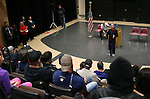 Carson City Mayor Bob Crowell speaks at the Western Nevada College second annual Suicide Awareness March in Carson City, Nev. on Saturday, May 7, 2016. The event raises awareness about the average 22 veteran suicides each day in the U.S. and the local services available to help. <br />