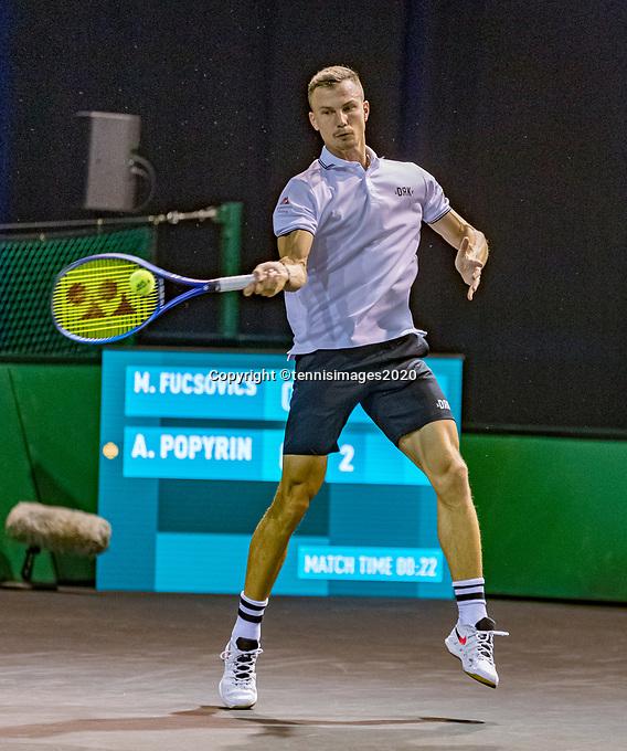 Rotterdam, The Netherlands, 9 Februari 2020, ABNAMRO World Tennis Tournament, Ahoy, Qualyfying match: Marton Fucsovics (HUN)<br /> Photo: www.tennisimages.com