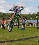 The Clan, Scotland's Cycle Stunt Team, Linlithgow Palace, West Lothian.<br /> <br /> Malcolm McCurrach | New Wave Images UK - 08/09/2013
