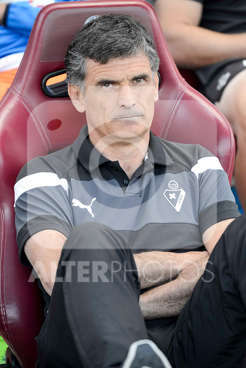 SD Eibar's coach Jose Luis Mendilibar Echebarria during Liga Liga match between Atletico de Madrid and SD Eibar at Vicente Calderon Stadium in Madrid, May 06, 2017. Spain.<br /> (ALTERPHOTOS/BorjaB.Hojas)