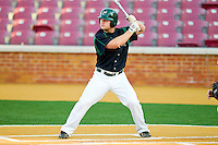 Tony Montalbano #14 of the Charlotte 49ers at bat against the Wake Forest Demon Deacons at Gene Hooks Field on March 22, 2011 in Winston-Salem, North Carolina.   Photo by Brian Westerholt / Four Seam Images