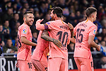 Lionel Messi of FC Barcelona (C) celebrates his goal with his teammates during the La Liga 2018-19 match between RDC Espanyol and FC Barcelona at Camp Nou on 08 December 2018 in Barcelona, Spain. Photo by Vicens Gimenez / Power Sport Images