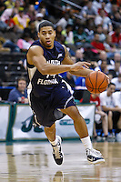 February 08, 2011:  North Florida Ospreys guard Jimmy Williams Jr. (14)  during Atlantic Sun Conference action between the Jacksonville Dolphins and the North Florida Ospreys at Veterans Memorial Arena in Jacksonville, Florida.  Jacksonville defeated North Florida 71-69.