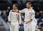 7th September 2017, Emirates Old Trafford, Manchester, England; Specsavers County Championship, Division One; Lancashire versus Essex; Jos Buttler and Liam Livingstone of Lancashire