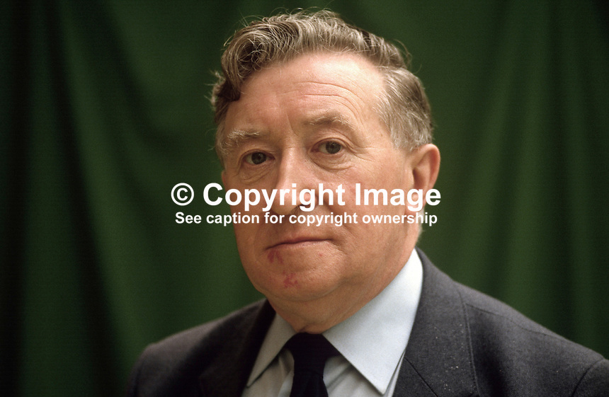 Jimmy Blair, N Ireland official, AUEW, trade union, UK, 19840052JB2..Copyright Image from Victor Patterson, 54 Dorchester Park, Belfast, UK, BT9 6RJ..Tel: +44 28 9066 1296.Mob: +44 7802 353836.Voicemail +44 20 8816 7153.Skype: victorpattersonbelfast.Email: victorpatterson@me.com.Email: victorpatterson@ireland.com (back-up)..IMPORTANT: If you wish to use this image or any other of my images please go to www.victorpatterson.com and click on the Terms & Conditions. Then contact me by email or phone with the reference number(s) of the image(s) concerned.