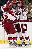 Luke Greiner (Harvard - 26), Brian Hart (Harvard - 39), Jimmy Vesey (Harvard - 19) - The Harvard University Crimson defeated the visiting Rensselaer Polytechnic Institute Engineers 4-0 (EN) on Saturday, November 10, 2012, at Bright Hockey Center in Boston, Massachusetts.