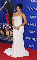 HOLLYWOOD, CA - AUGUST 16: Jordin Sparks arrives for the Los Angeles premiere of 'Sparkle' at Grauman's Chinese Theatre on August 16, 2012 in Hollywood, California. /NOrtePHOTO.COM<br />