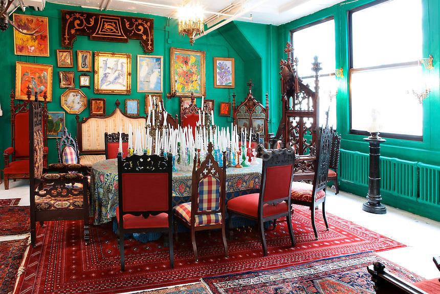 vintage wooden dining set