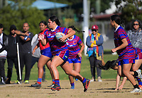Jayme Latu (Richmond) in action during the Auckland Rugby League Girls Pilot under-17 match between Otara Scorpions and Richmond at Ngati Otara Park in Auckland, New Zealand on Saturday, 9 June 2018. Photo: Dave Lintott / lintottphoto.co.nz